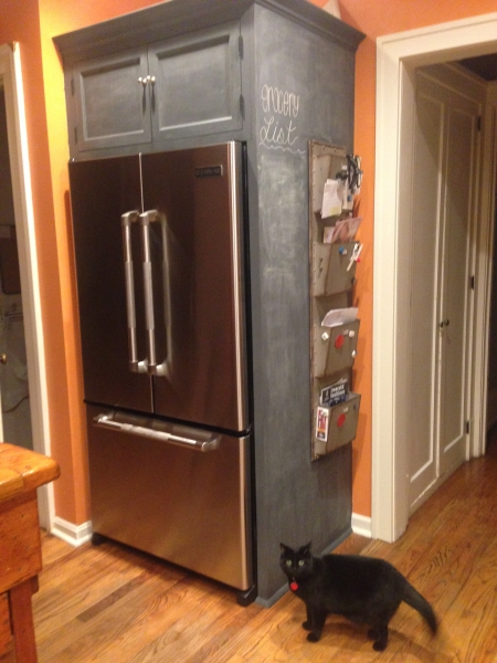 Refrigerator enclosure with Chalk Wall