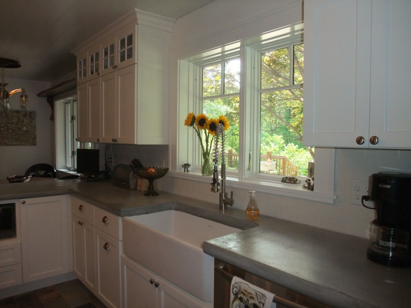 New larger windows over the farm style sink
